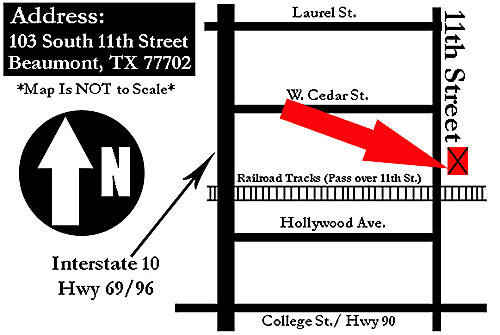 Map Image Showing the Location of Jan's Antiques, Etc.